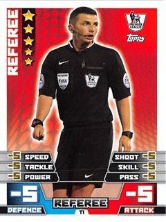 Match Attax 2014/2015 Referee (Michael Oliver) 14/15 Tactic Card