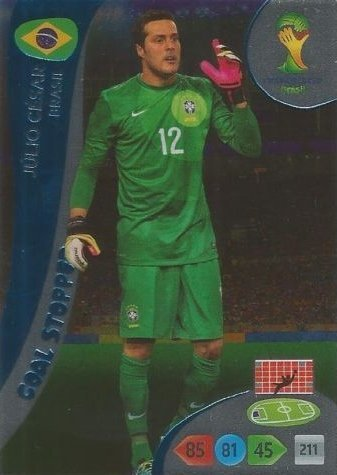 FIFA World Cup 2014 Brazil Adrenalyn XL Julio Cesar Goal Stopper