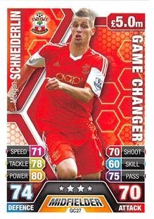 Match Attax Extra 2013/2014 Morgan Schneiderlin Game Changer 13/14