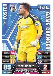Match Attax Extra 2013/2014 Ben Foster Game Changer 13/14