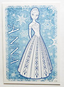 Disney Frozen Anna Colour Me In Trading Card #130