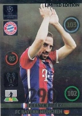 Champions League Adrenalyn XL 2014/2015 Franck Ribery 14/15 Limited Edition
