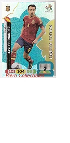Euro 2012 Adrenalyn XL Limited Edition card Xavi Hernandez