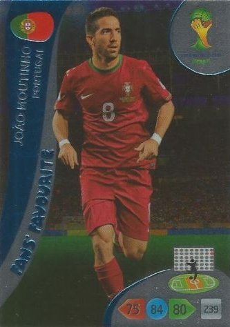 FIFA World Cup 2014 Brazil Adrenalyn XL Joao Moutinho Fans Favourite