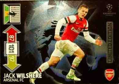 Adrenalyn XL Champions League Update 2012/2013 Jack Wilshere 12/13 Limited Edition