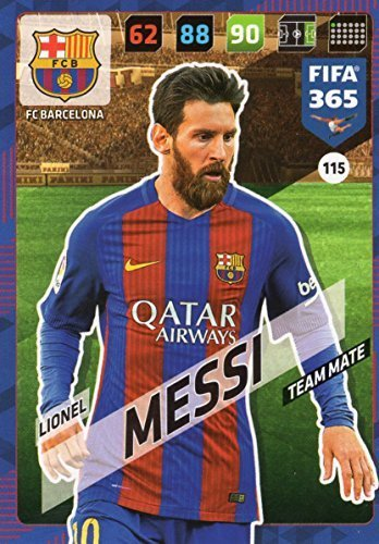 FIFA 365 2018 - LIONEL MESSI TEAM MATE CARD, PANINI ADRENAYLN XL FC BARCELONA #115