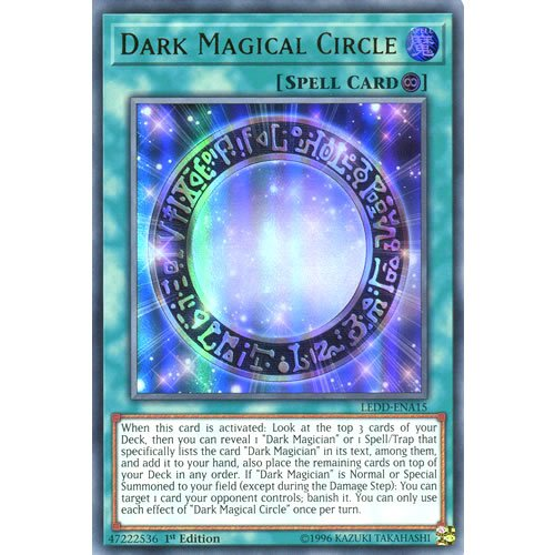 YuGiOh : LEDD-ENA15 1st Ed Dark Magical Circle Ultra Rare Card - ( Legendary Dragon Decks Yu-Gi-Oh! Single Card )