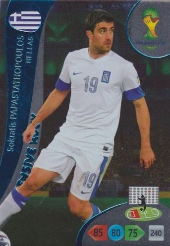 FIFA World Cup 2014 Brazil Adrenalyn XL Sokratis Papastathopoulos Defensive Rock