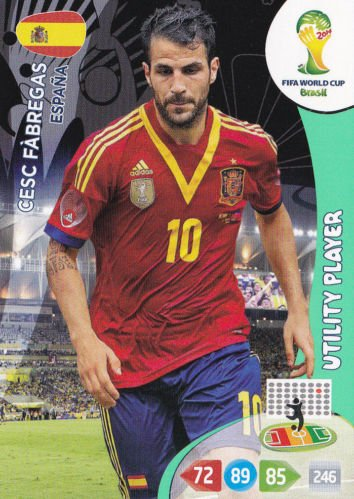 FIFA World Cup 2014 Brazil Adrenalyn XL Cesc Fabregas Utility Player