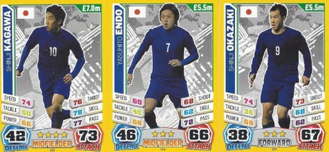 Match Attax England World Cup 2014 Japan Base Card Team Set (3 Cards)