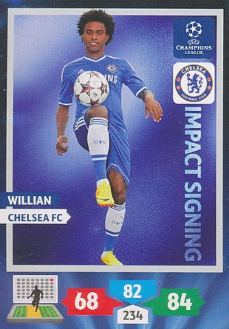 Champions League Adrenalyn XL 2013/2014 Willian 13/14 Impact Signing