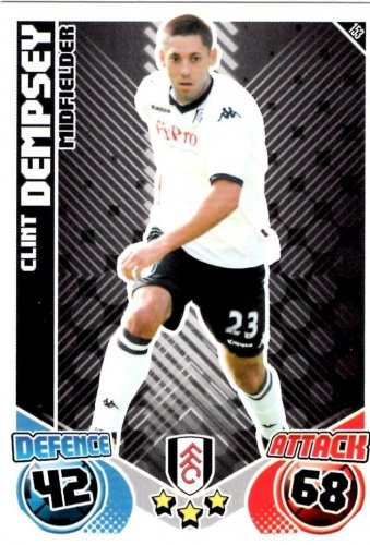 Clint DEMPSEY Fulham Individual Match Attax 2010/11 Trading Card