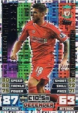 Match Attax Extra 2014/2015 Alberto Moreno (Liverpool) Man Of The Match 14/15