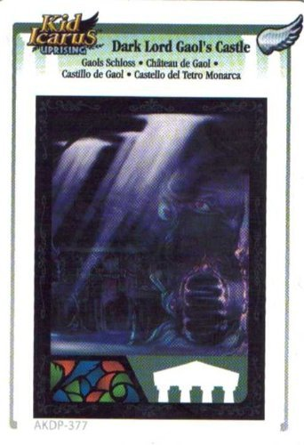 Kid Icarus Uprising AKDP 377 - Dark Lord Gaol's Castle Silver Wing Rare Card