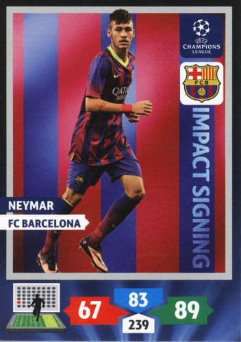 Champions League Adrenalyn XL 2013/2014 Neymar 13/14 Impact Signing