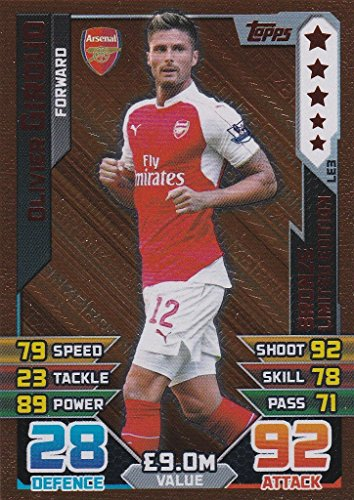 Match Attax 2015/2016 Olivier Giroud Bronze Limited Edition Trading Card 15/16 LE3