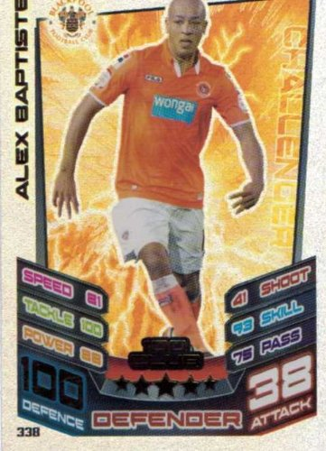 Match Attax Championship 12/13 Alex Baptiste Blackpool 2012/2013 Hundred 100 Club Card