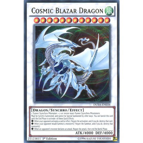YuGiOh : DUSA-EN034 1st Ed Cosmic Blazar Dragon Ultra Rare Card - ( Yu-Gi-Oh! Single Card )