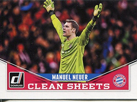 Donruss Soccer 2015 Clean Sheets Chase Card #8 Manuel Neuer