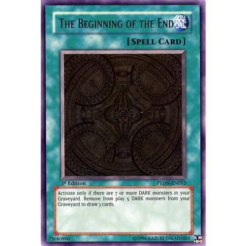 Yu-Gi-Oh : PTDN-EN053 1st Ed The Beginning of the End Ultimate Rare Card - ( Phantom Darkness YuGiOh Single Card )