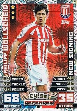 Match Attax Extra 2014/2015 Philipp Wollscheid (Stoke City) New Signing 14/15