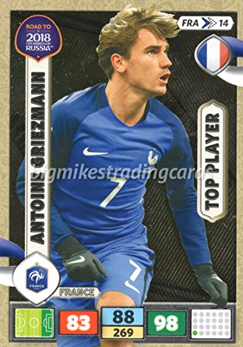 ROAD TO WORLD CUP 2018 Antoine Griezmann (France) TOP PLAYER CARD, PANINI ADRENALYN XL