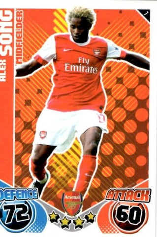 Alex SONG Arsenal Individual Match Attax 2010/11 Trading Card