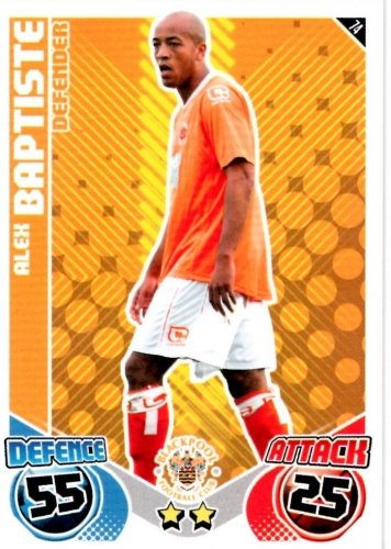 Alex BAPTISTE Blackpool Individual Match Attax 2010/11 Trading Card