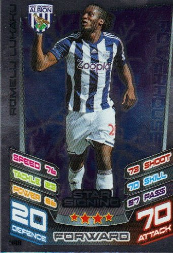 Match Attax 2012/2013 Star Signing Card - 398 West Brom ROMELU LUKAKU