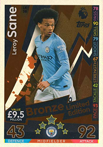 MATCH ATTAX 2018/19 LEROY SANE BRONZE LIMITED EDITION CARD LE3B