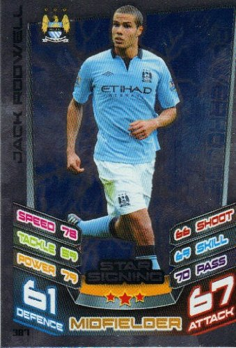 Match Attax 2012/2013 Star Signing Card - 387 Manchester City JACK RODWELL