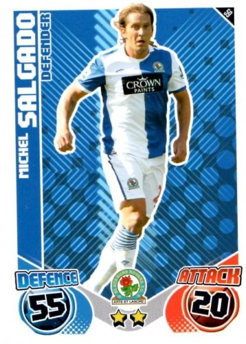Michel SALGADO Blackburn Individual Match Attax 2010/11 Trading Card
