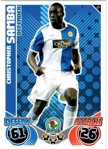Christopher SAMBA Blackburn Individual Match Attax 2010/11 Trading Card