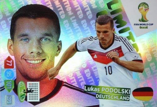 FIFA World Cup 2014 Brazil Adrenalyn XL Lukas Podolski Limited Edition