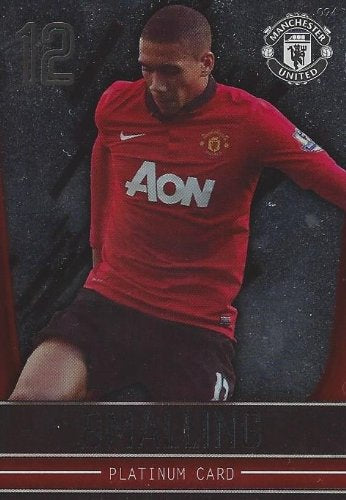 Manchester United Adrenalyn XL 2013/2014 Chris Smalling Platinum 13/14
