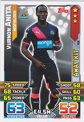 Match Attax 2015/2016 Vurnon Anita Newcastle United Away Kit Trading Card 15/16