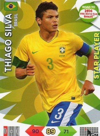 Adrenalyn XL Road To 2014 World Cup Brazil #16 Thiago Silva Star Player