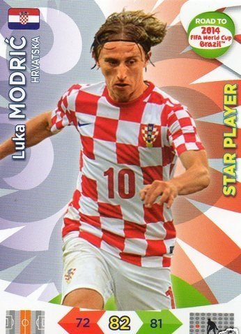 Adrenalyn XL Road To 2014 World Cup Brazil #105 Luka Modric Star Player