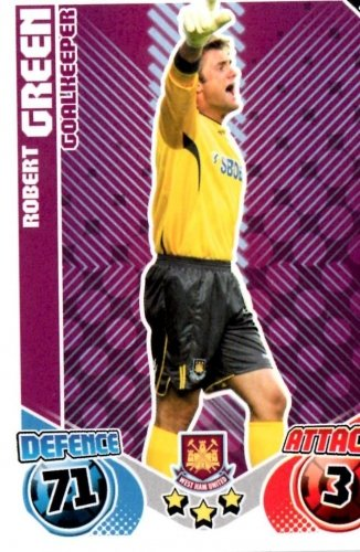 Robert GREEN West Ham Individual Match Attax 2010/11 Trading Card