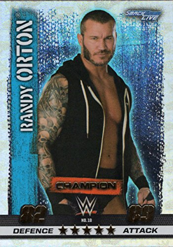 WWE SLAM ATTAX 10 - RANDY ORTON CHAMPION TRADING CARD - WRESTLING