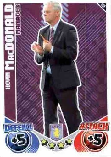 Kevin MacDONALD Manager Individual Match Attax 2010/11 Trading Card