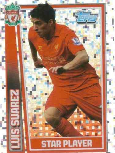 Premier League 12/13 Luis Suarez Liverpool 2012/2013 Star Player Sticker