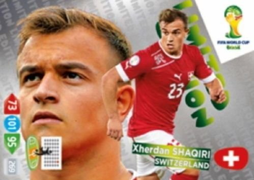 FIFA World Cup 2014 Brazil Adrenalyn XL Xherdan Shaqiri Limited Edition