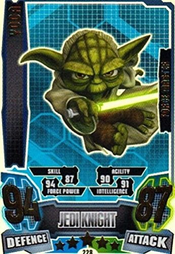 Star Wars Force Attax Series 4 The Clone Wars Yoda Force Master