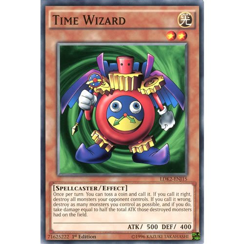 YuGiOh : LDK2-ENJ15 Limited Ed Time Wizard Common Card - ( Yu-Gi-Oh! Single Card )