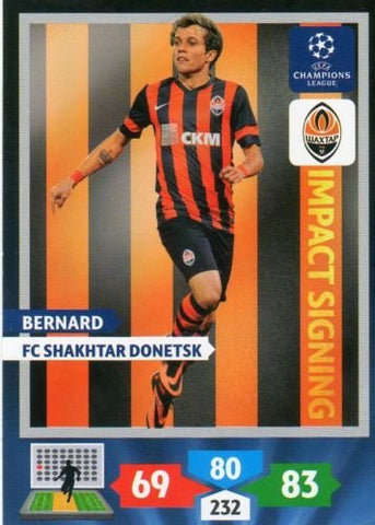 Champions League Adrenalyn XL 2013/2014 Bernard 13/14 Impact Signing