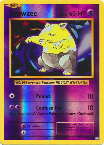 Pokemon - Drowzee (49/108) - XY Evolutions - Reverse Holo