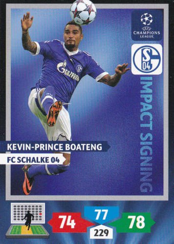 Champions League Adrenalyn XL 2013/2014 Kevin-Prince Boateng 13/14 Impact Signing