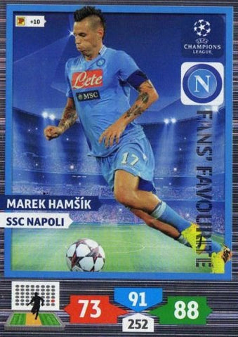 Champions League Adrenalyn XL 2013/2014 Marek Hamsik 13/14 Fans Favourite