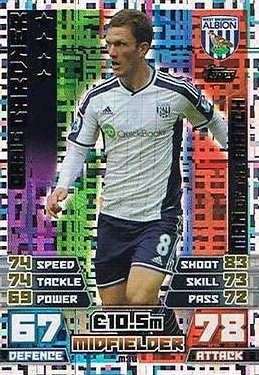 Match Attax Extra 2014/2015 Craig Gardner (West Bromwich Albion) Man Of The Match 14/15
